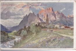 AQ21 Cortina D'Ampezzo Verso Pomagagnon, Dolomit Di Ampezzo - Artist Signed - Italy