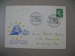 Lettre 1972  Cercle Etudes Philatéliques Conseil De L'Europe - Musée Régional PTT  - Riquewihr -Philatélie  Pour Aulnay - Marcophilie (Lettres)