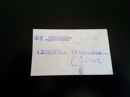 FOOTBALL DINAMO ZAGREB - Tickets 1980 Northern Tribune - Tickets - Entradas