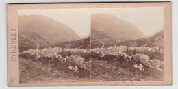 Stereoscopische Kaart.    Pyrénées.     CAUTERETS.à Vol D'oiseau - Cartes Stéréoscopiques