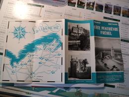 VIEILLE BROCHURE TOURISTIQUE COTE PENTHIEVRE FREHEL. ANNEES 50?  TELEPHONE A 4 CH - Dépliants Touristiques