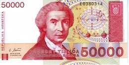 CROATIE - 50 000 Dinara 1993 - Série E0380314 - P.26a - UNC - Croatie
