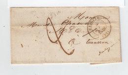 Sur LAC Grand CAD Exideuil 1878. Taxe Manuscrite. Cachet C Dans Cercle. Destination: Terrasson. (2039x) - 1801-1848: Précurseurs XIX