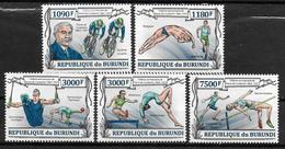 BURUNDI  N° 2050/53  BF 352 * *  ( Cote 18e )  Coubertin Gymnastique Anneaux Danse Cyclisme Plongeon Course De Haies - Cyclisme