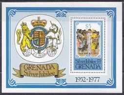 Grenada 1977 Geschichte History Persönlichkeiten Königshäuser Royals Queen Königin Elisabeth II. Wappen Arms, Bl. 63 ** - Grenada (1974-...)