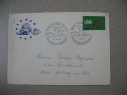 Lettre 1973 Conseil De L'Europe  Musée Régional PTT  L'aviation Postale Et L'Alsace - Riquewihr -Philatélie Pour Aulnay - Marcophilie (Lettres)