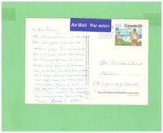 1976 CANADA AIR MAIL POSTCARD WITH 1 STAMP TO SWISS - 1952-.... Règne D'Elizabeth II