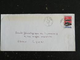 PARIS A LYON F - CONVOYEUR LIGNE AMBULANT - CACHET ROND MANUEL SUR YT 2450 MULHOUSE MUSEE TECHNIQUES LOCOMOTIVE TRAIN - Marcophilie (Lettres)
