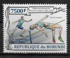 BURUNDI   ( BF 352 ) * *   Coubertin Lancer Du Dique Saut En Hauteur - Athlétisme