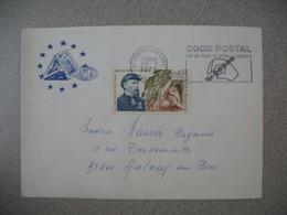 Lettre 1973  Conseil De L'Europe Code Postal -  Strasbourg Gare Bas-Rhin Pour Aulnay - Storia Postale
