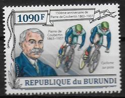 BURUNDI     N° 2050  * *   Coubertin Cyclisme - Cyclisme