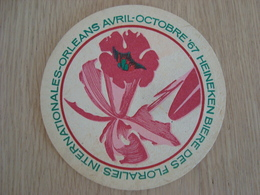 SOUS-BOCK HEINEKEN BIERE DES FLORALIES INTERNATIONALES ORLEANS 1967 - Sous-bocks