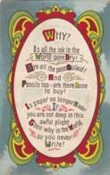 AP40 Greetings - Why Do You Never Write? - Holidays & Celebrations
