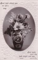 AP40 Greetings - Good Luck - Vase Of Flowers, Embossed - Holidays & Celebrations
