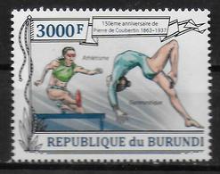 BURUNDI     N° 2052  * *   Coubertin Gymnastique Course De Haies - Gymnastique