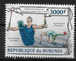 BURUNDI   N° 2053  * *   Coubertin Gymnastique Anneaux Danse - Gymnastique