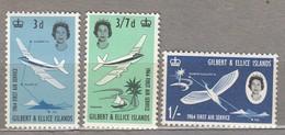 GILBERT ELLICE ISLANDS 1964 Airplanes Birds MNH(**) Mi 77-79 #24156 - Gilbert & Ellice Islands (...-1979)