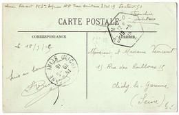 CaD Hexagonal 'St Malo - A A' (Ille Et Vilaine) Sur Carte En FM De 1915 - Postmark Collection (Covers)