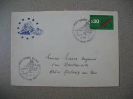 Lettre 1974 Conseil De L'Europe  Musée Régional Des  PTT  Le Calendrier Et La Poste - Riquewihr -Philatélie Pour Aulnay - Marcophilie (Lettres)