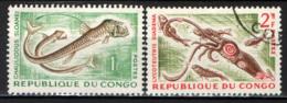 CONGO BRAZZAVILLE - 1964 - MARINE LIFE - USATI - Congo - Brazzaville
