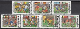 TANZANIA 1759-1765,used,football - Coupe Du Monde