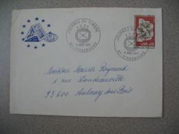 Lettre 1974  Conseil De L'Europe  Journée Du Timbre FSPF - Strasbourg  Bas Rhin Pour Aulnay - Storia Postale