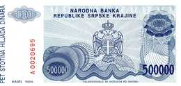 CROATIE - 500.000 Dinara 1993 - Série A 0020695 - P.R 32  - UNC - Croatie