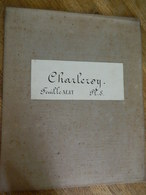 CHARLEROI  + MILITARIA :TRES RARE CARTE MILITAIRE DE CHARLEROI ET ENVIRONS 1860-1870 - Documents