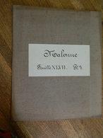 MALONNE + MILITARIA :TRES RARE CARTE MILITAIRE DE MALONNE ET ENVIRONS 1860-1870 - Documents