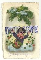 Gelukkig Nieuwjaar. Petie Fille, Panier, Tréfles, Coeur, Fer à Cheval, ... 1937 - Nouvel An