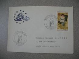 Lettre 1975  Conseil De L'Europe  Foire Européenne  - Strasbourg  Bas Rhin Pour Aulnay - Marcofilia (sobres)