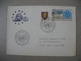 Lettre 1975 Conseil De L'Europe  30 è Anniversaire Des Nations-Unies - Exposition Philatélique - Strasbourg  Pour Aulnay - Storia Postale