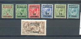 A 127 - MAROC - YT 1-2-3-5-8-9-10 * - Bureaux Au Maroc / Tanger (...-1958)
