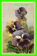 FLEURS - VIOLA TRICOLOR - PENSÉE - PANSY, PANZEA - CIRCULÉE EN 1929 - - Fleurs