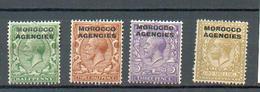 A 142 - MAROC - YT 8-10-12-16 * - Postämter In Marokko/Tanger (...-1958)
