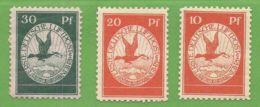 MiNr. I.-III.  X  Luftpost Deutsches Reich - Deutschland