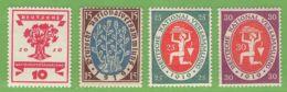 MiNr. 107-110  Xx Deutsches Reich - Deutschland