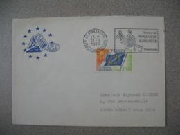Lettre 1976 Session Du Parlement Européen  De Strasbourg Conseil De L'Europe Pour Aulnay - Storia Postale