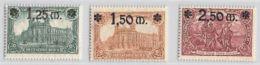 MiNr. 116-118  Xx Deutsches Reich - Deutschland