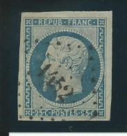 FRANCE:  Obl., N° YT 10, Bleu, TB - 1852 Louis-Napoléon