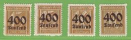 MiNr. 297-300  Xx Deutsches Reich - Deutschland