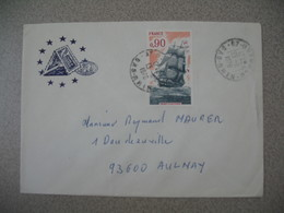 Lettre 1976   Strasbourg Conseil De L'Europe Bas Rhin  Pour Aulnay - Storia Postale