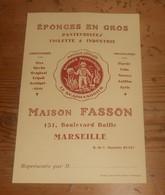 Publicité D'éponges. Le Scaphandrier. Marseille. Maison Fasson. - Manuscrits