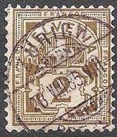 Schweiz Suisse 1882: Faser-papier Melée Zu 58A Mi 50X Yv 63 - 2c Oliv Mit O ZÜRICH 28.VIII.85 (Zu CHF 5.00) - 1882-1906 Armoiries, Helvetia Debout & UPU