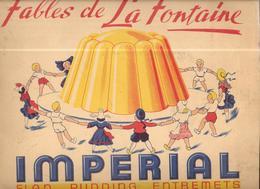 AP50 - ALBUM COLLECTEUR FLAN IMPERIAL - LES FABLES DE LA FONTAINE - ALBUM 2 - MANQUE 29 IMAGES - Confiserie & Biscuits
