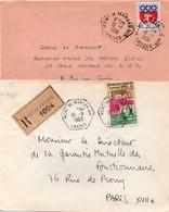 Mont De Marsan Air Landes - 2 Lettres 1963 Et 1966 - Hexagonal Armée De L'air - Recommandé Avec Griffe - Poststempel (Briefe)