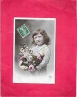 CPA COLORISEE FANTAISIE  -  Adorable Fillette Au Bouquet De Fleurs - DELC8/BES - - Hommes