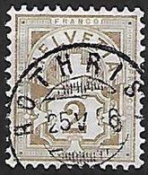 Schweiz Suisse 1882: Faser-papier Melée Zu 58A Mi 50X Yv 63 - 2c Oliv Mit Voll-o ROTHRIST 25.V.86 (Zu CHF 5.00) - 1882-1906 Armoiries, Helvetia Debout & UPU
