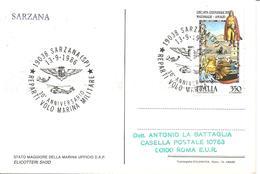 ITALIA - 1986 SARZANA (SP) 30° Anniv. Reparti Volo Marina Militare (stemma, Elicottero SH3D) Su Cartolina Speciale - Elicotteri