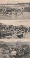 3 CPA:MILITAIRE LES BLESSÉS COMBAT CAMPAGNE DU MAROC 1914,MILITAIRES PASSAGE OUED À GUÉ,COLONNE DE TAZA ZRARKA  ÉCRITES - Maroc